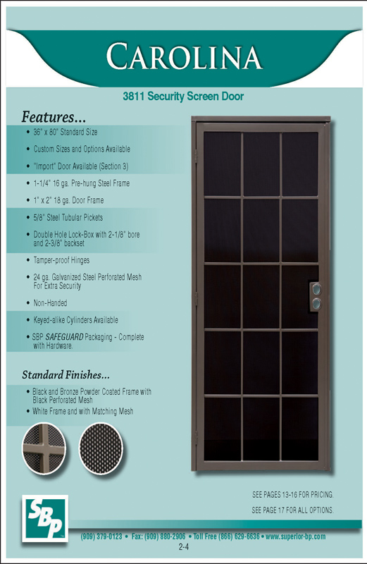 San Diego Screen Doors | Security Doors